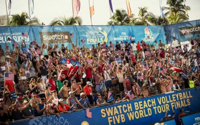Massive Crowds Fill South Beach Park